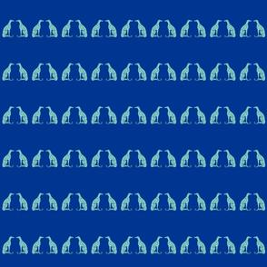 """Smaller Greyhounds - 2.93"""" height (blue)"""