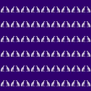 "Smaller Greyhounds - 2.93"" height (purple)"