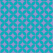 petals (turquoise on purple)