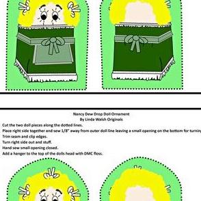 Nancy Dew Drop Cut and Sew Doll