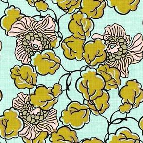 Vintage Block Floral in pastels