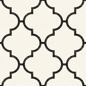 Moroccan Grande Tile on Cream