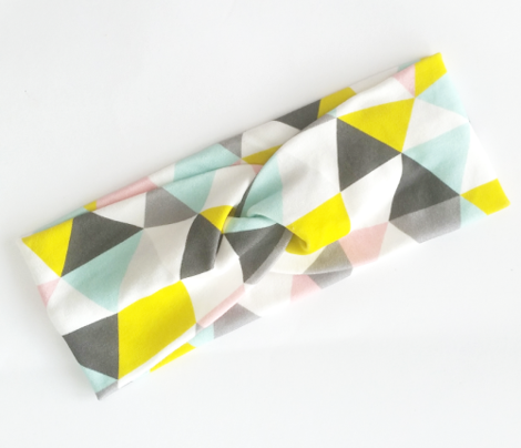 Quirky geometric pastels triangle