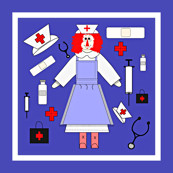Nurses Fabric3 Border