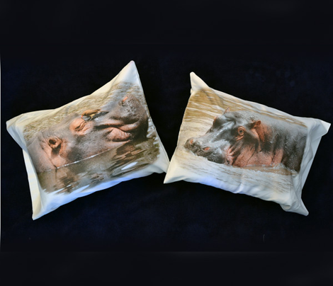 Three HIPPO pillowcases