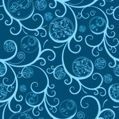 Gallifrey Scroll Light Blue