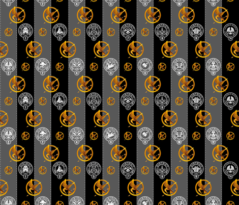 Hunger Games 75th annual fabric by id_designs on Spoonflower - custom fabric