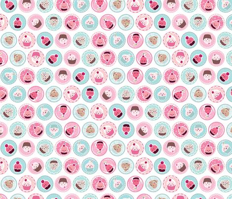 Cute Cupcakes fabric by id_designs on Spoonflower - custom fabric