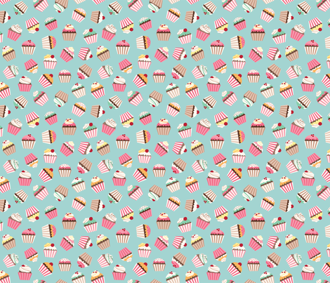 Cupcakes fabric by id_designs on Spoonflower - custom fabric