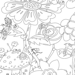 Wonderland Garden - Colour it in!