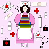Nurses Doll Medical Fabric 4