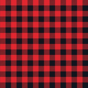 Gingham RED & BLK half