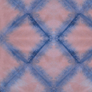 Pink and Navy Diamond Shibori
