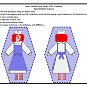 Nurse Hannah Anna Cut and Sew Doll Ornament