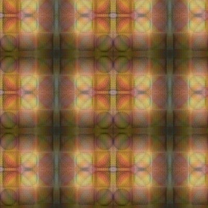 Muted Plaid Stained Glass Effect