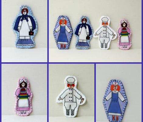 Janice Nightingale Cut and Sew Nurse Doll Ornament