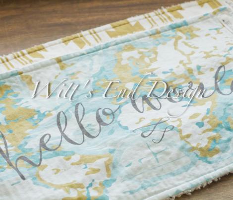 hello world burp cloths + loveys // mustard