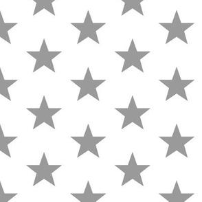 Superstars Gray on White-Medium