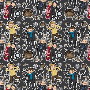 BBC Sherlock Fabric (grey)