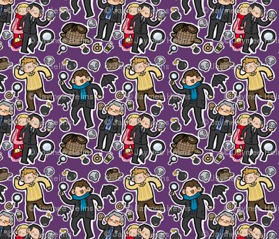 BBC Sherlock Fabric (purple)