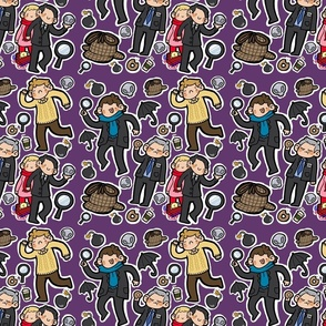 BBC Sherlock Fabric (purple)