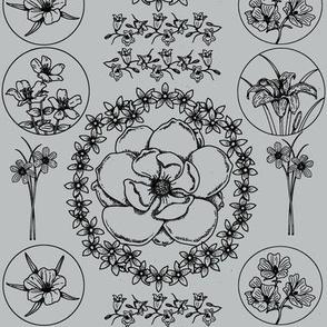 flowerwallpapergrey
