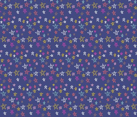 Stars (midnight) fabric by heidikenney on Spoonflower - custom fabric