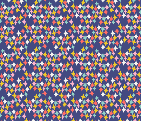 Diamonds (midnight) fabric by heidikenney on Spoonflower - custom fabric