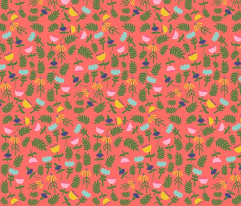All Flowers (melon) fabric by heidikenney on Spoonflower - custom fabric
