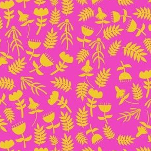 Solid Flowers (hot pink)