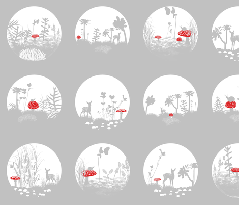 Polka Dot Terrariums fabric by smuk on Spoonflower - custom fabric