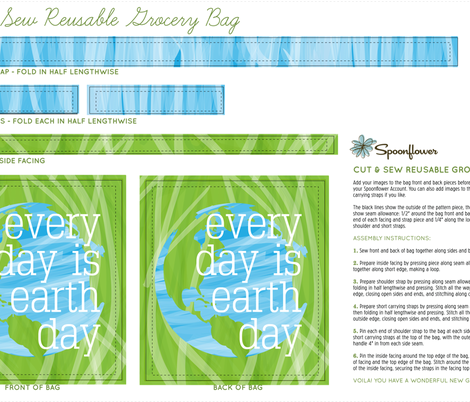earthday totebag fabric by terrih on Spoonflower - custom fabric