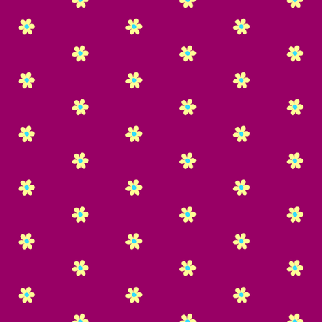 Emily's Flower yellow on magenta fabric by crafty_pup on Spoonflower - custom fabric