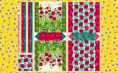 Cut & Sew Poppy meadow tote