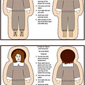 I'm Ryan B. Pilgrim Boy Cut and Sew Doll