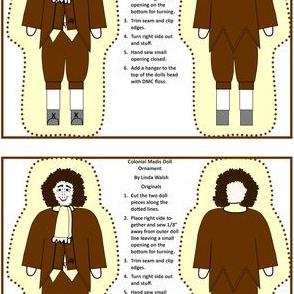Colonial Madis Pilgrim Man Cut and Sew Doll