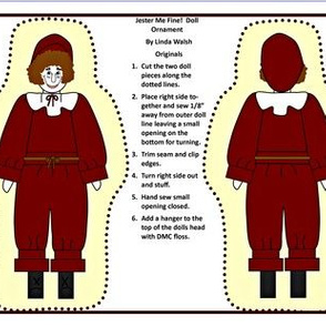 Jester Me Fine Colonial Boy Cut and Sew Doll