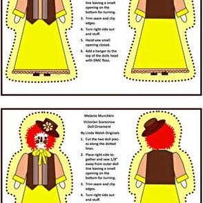 Melanie Munchkin Cut and Sew Doll