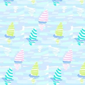 Colorful Stripe Sailing