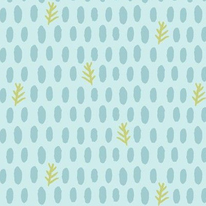 dotty dot natural (lt. aqua, deep sea + leaf)