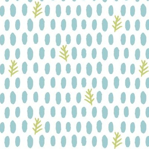 dotty dot natural (deep sea, leaf + white)