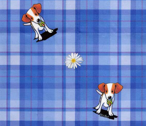 Jack Russell Terrier Plaid