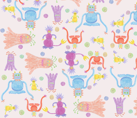 Monsters fabric by madebyeek on Spoonflower - custom fabric