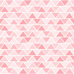 Girly Pink Geometric Fat Triangle Pattern