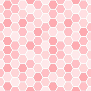 Girly Pink Geometric Honey Comb Pattern