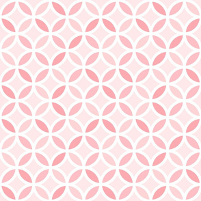 Girly Pink Geometric Lattice Circle Pattern