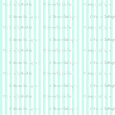 Mint Stripes 1/2 Inch Vertical