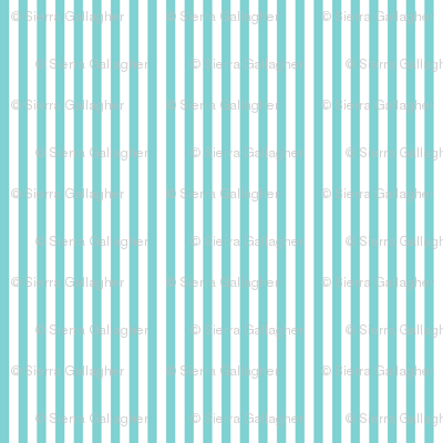 Aqua Stripes 1/2 Inch Vertical