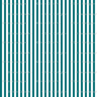 Teal Stripes 1/2 Inch Vertical