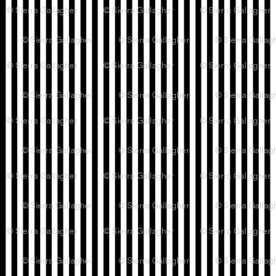 Black Stripes 1/2 Inch Vertical